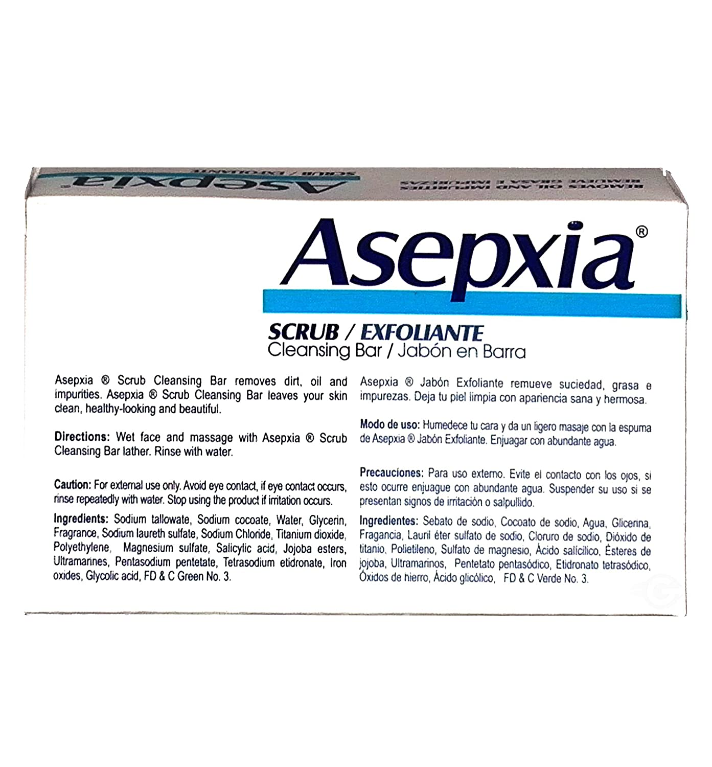 Amazon.com : Asepxia Soap Scrub (blue) 3.52 oz - Jabon Exfoliante Azul (Pack of 18) : Beauty