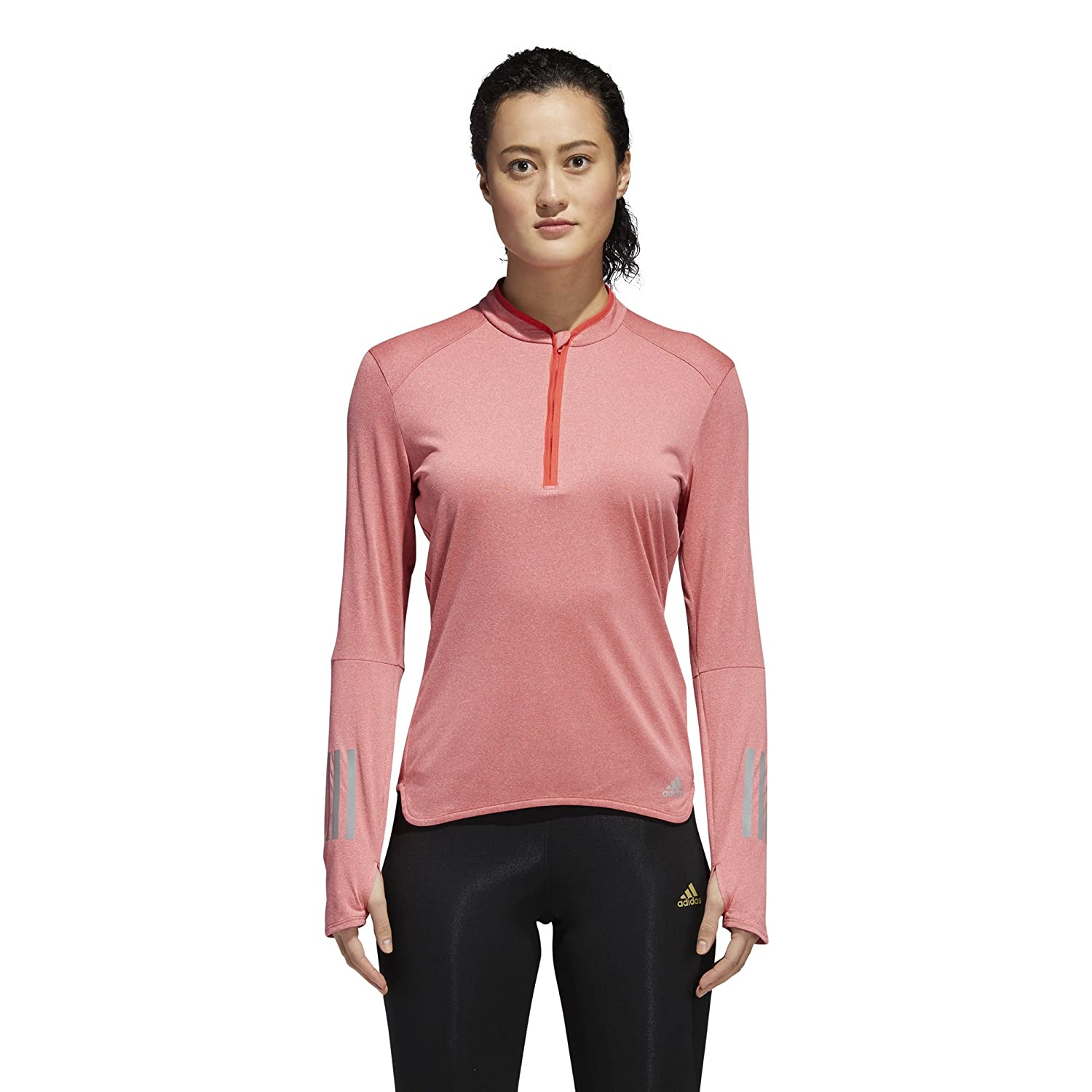 adidas Women's Running Response Long Sleeve 1/2 Zip CF1005-PARENT