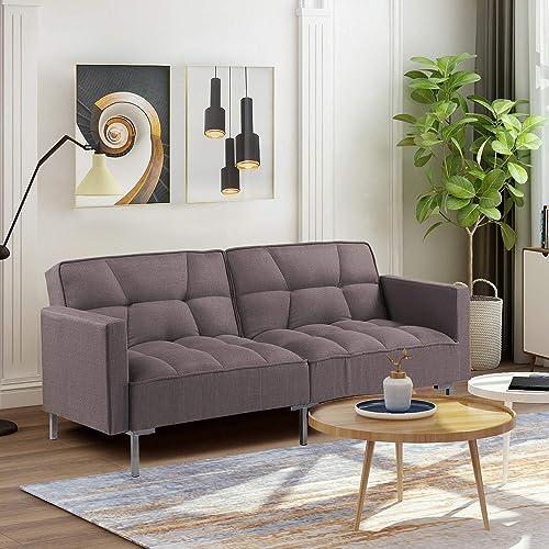78.35 inch Sleeper Sofa Convertible Futon Sofa Bed Sleeper Sofa Bed Couch Adjustable Futon Couches Sofas Bed