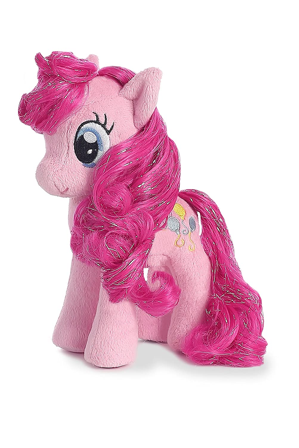 Aurora World My Little Pony Pinkie Pie Pink Horse 6.5 Inch Plush
