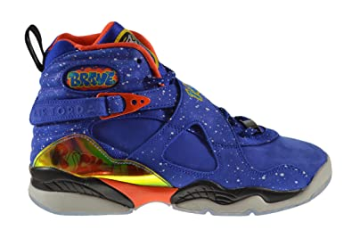size 40 30dcb d44d8 Jordan Air 8 Retro Doernbecher (GS) Big Kids Shoes Hyper Blue Electro Orange