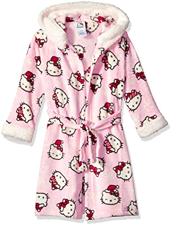 30c1e3850 Amazon.com: Hello Kitty Girls' Big Hooded Robe, Pink, Small: Clothing
