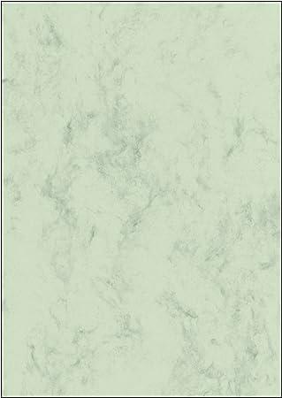 SIGEL DP263 Papel de cartas, 21 x 29,7 cm, 90g/m², mármol verde claro, 100 hojas
