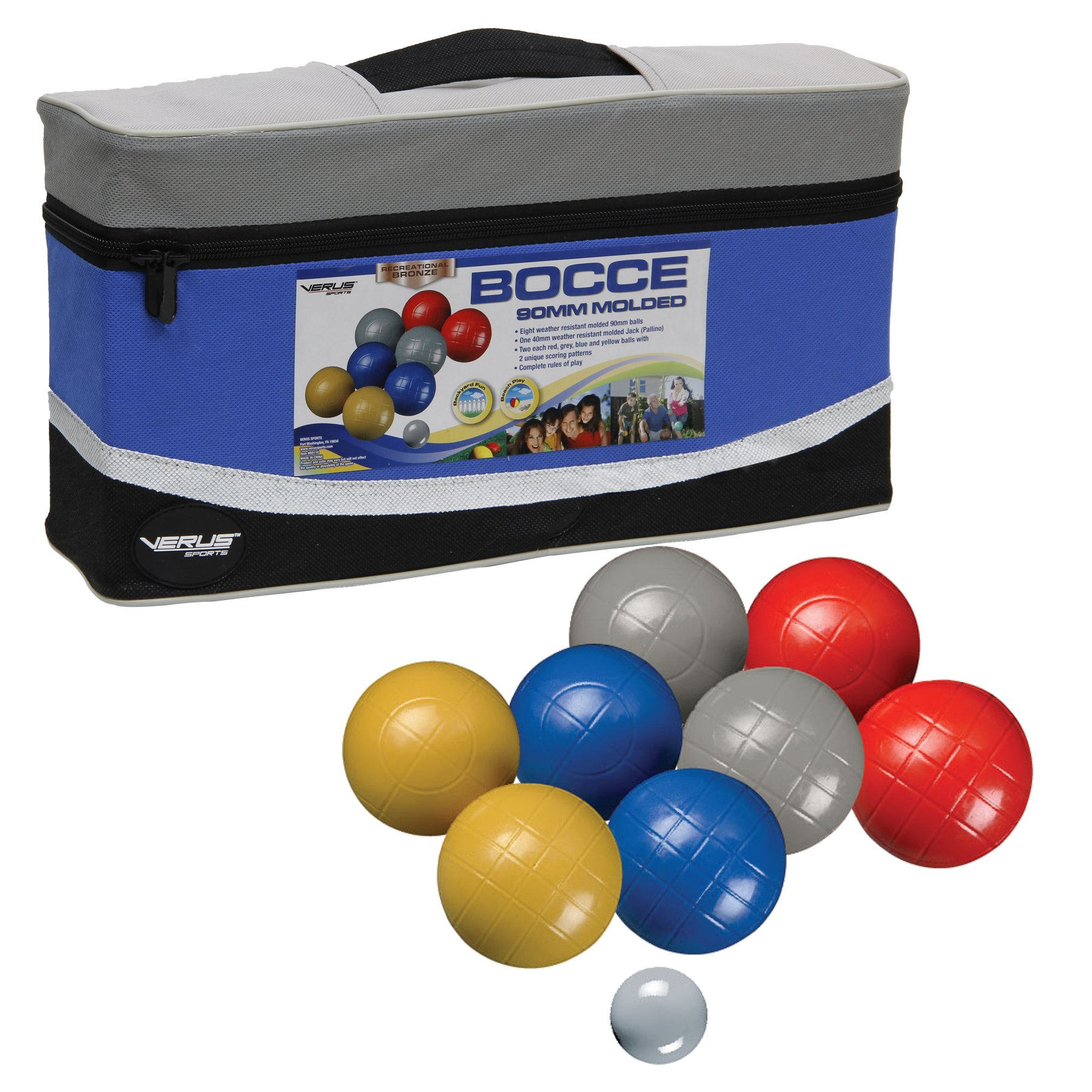 Recreational 90mm Bocce Set by Verus Sports