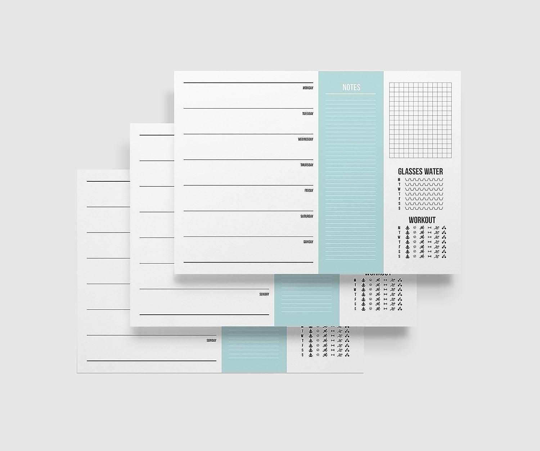 lingua inglese 50/pagine/ Agenda settimanale formato DIN A4,/orizzontale