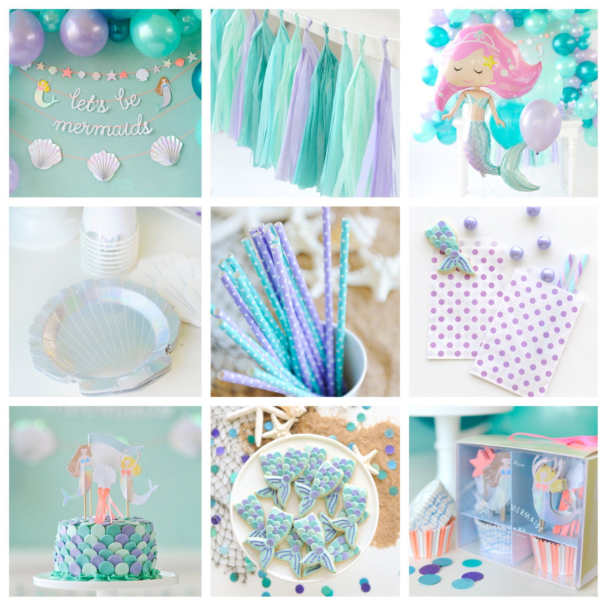 Let's Be Mermaids Boxed Collection - Party for 16 by Happy Wish Company