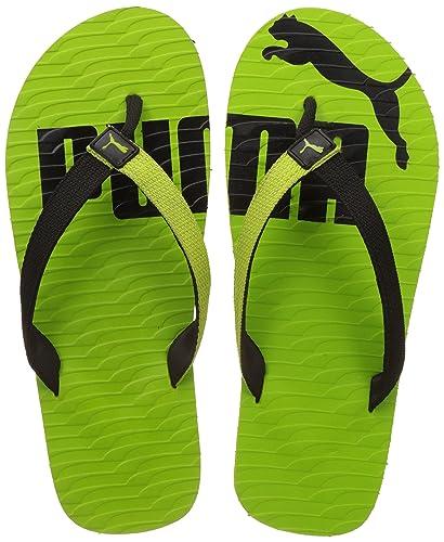 44c2c811a33 Puma Miami Valueline Ii Dp Lime Punch Black Flip Flops Thong Sandals - 11 UK