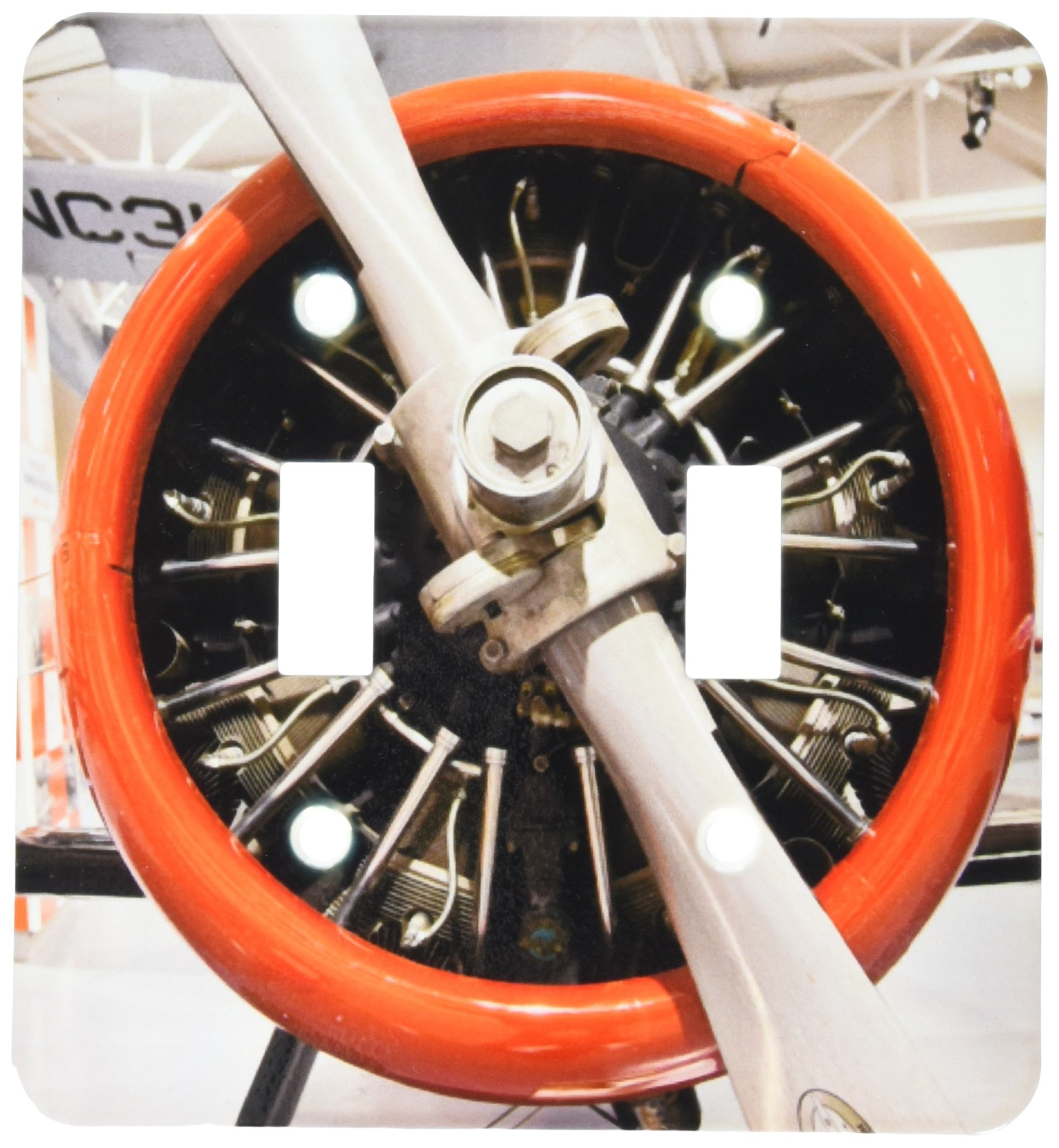 3dRose lsp_90512_2 Weddel-Williams Air Racing Museum, Aviation Us19 Wbi0320 Walter Bibikow Light Switch Cover