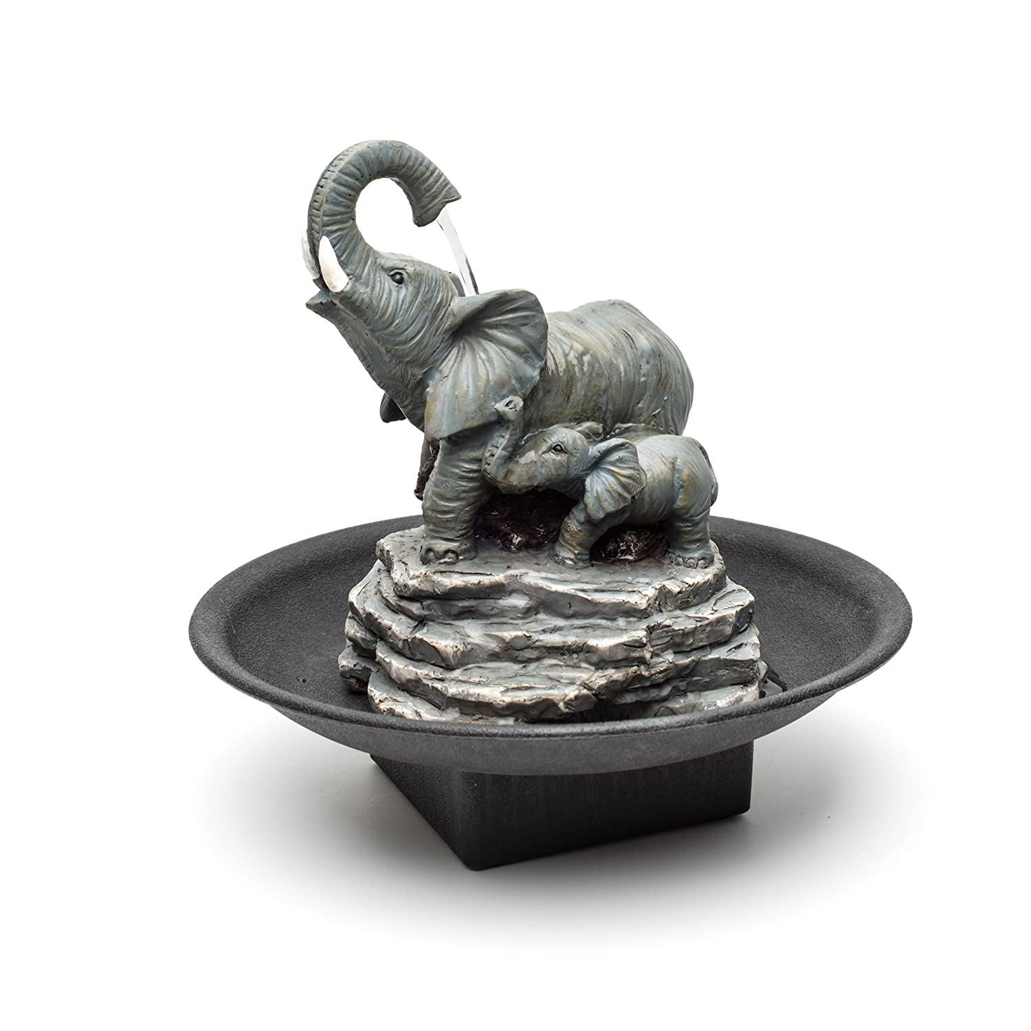 table water fountain. amazon.com : decor desk elephant watering hole fountain - water garden \u0026 outdoor table b