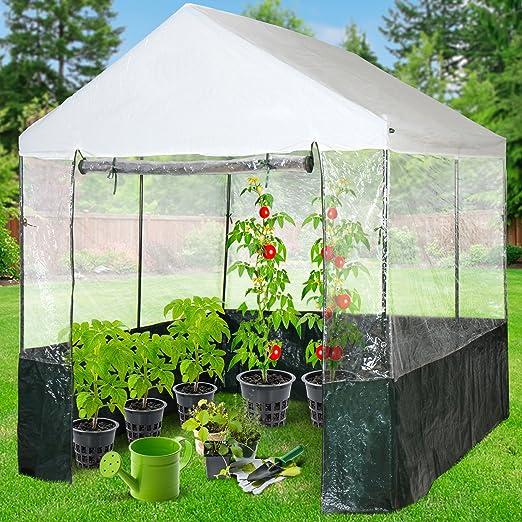 Jago Invernadero con cubierta para jardín, terraza o balcón (para tomates, flores, varios tipos de plantas) – diferentes modelos a elegir: Amazon.es: Jardín