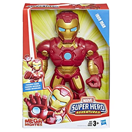 Super Hero Adventures Marvel Mega Mighties Iron Man Collectible 10-Inch Action Figure, Toys for…