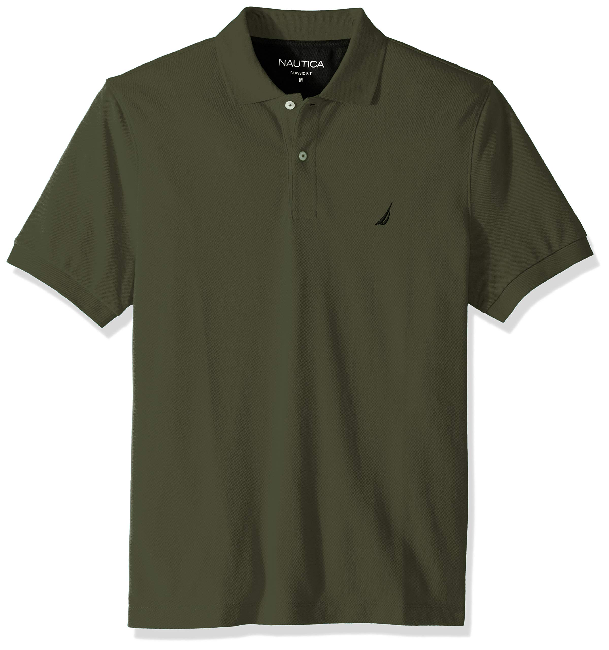Nautica Men's Classic Short Sleeve Deck Polo Shirt, Pine Forest, X-Large