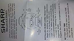 sharp spc800 quartz analog twin bell alarm clock manual