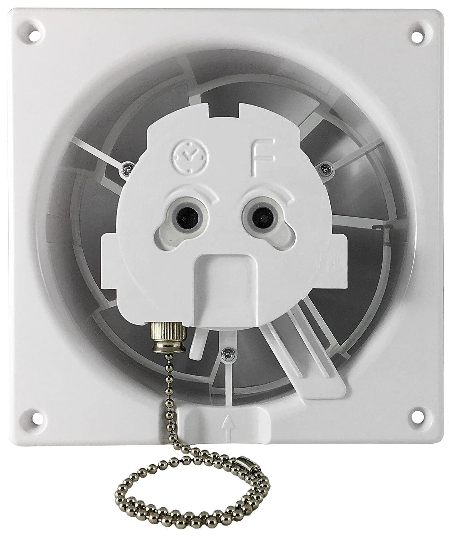 Wohnrauml/üfter Badventilator Front ALU silber geb/ürstet /Ø100-125 mm /Ø 125 mm Feuchtesensor//Hygrostat 18552-011 MKK
