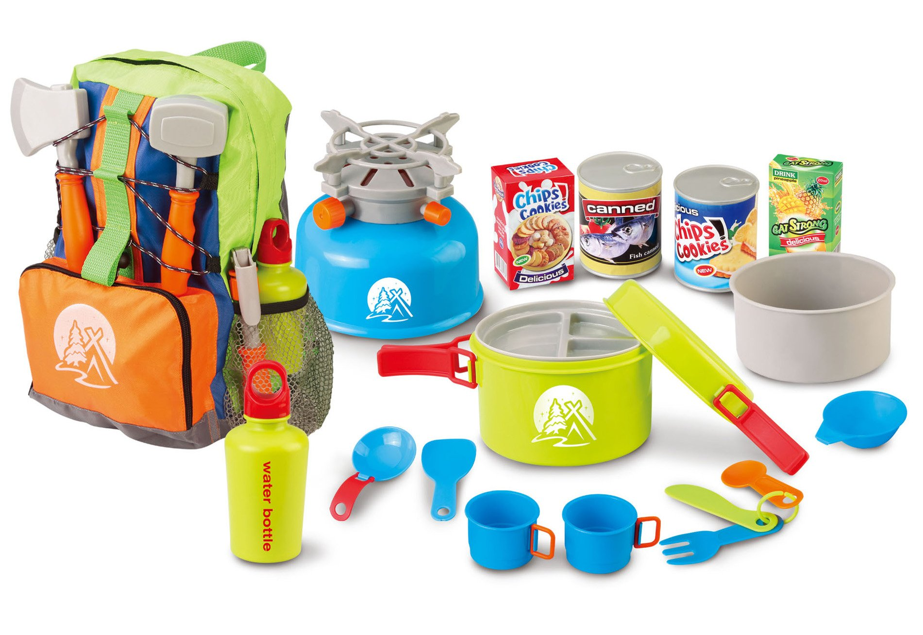 Berry Toys Little Explorer Camping Backpack Cooker Play Set (13-Piece)