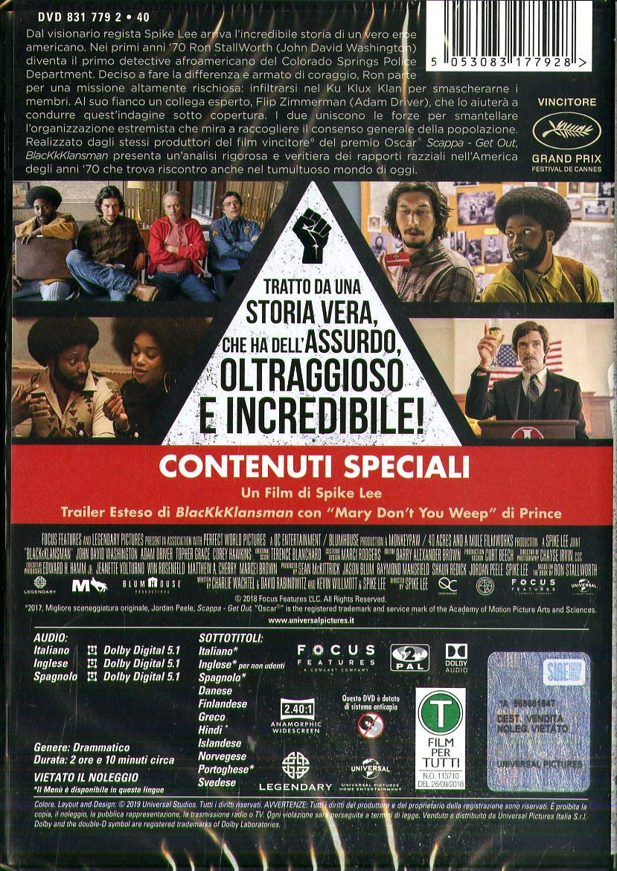 Blackkklansman [Italia] [DVD]: Amazon.es: Adam Driver, Topher ...