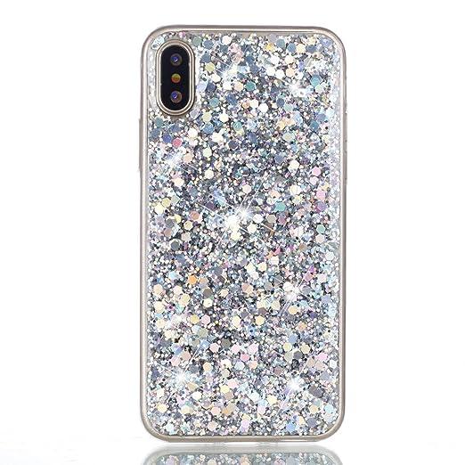 finest selection d1cab a57e1 Amazon.com: Jewby iPhone X Case, Handmade DIY Crystal Diamond Case ...