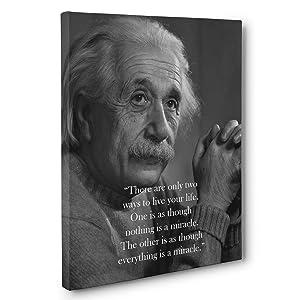 Albert Einstein Live Your Life Quote Canvas Wall Art