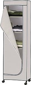 Organize It All Portable Wardrobe Storage Closet Tower, Gray
