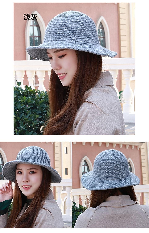 Invierno Gorra visera simple tapa de pura lana tejida de tapa caliente  pescador hat hat de 55-61cm de circunferencia de la cabeza elástica del  sol 7d3b13b05ef