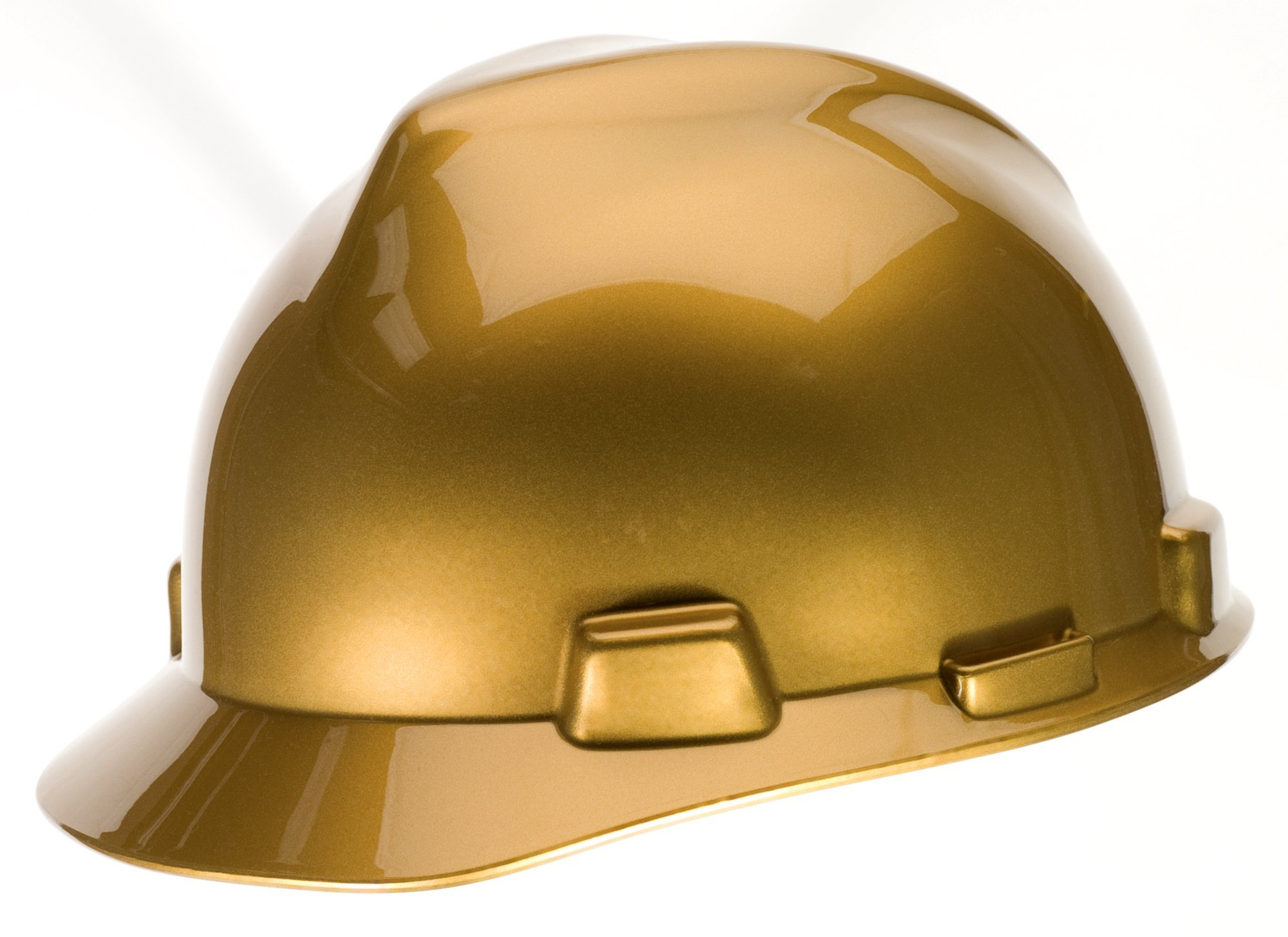 MSA 10101854 Specialty V-Gard Protective Cap with Fast Trac III Suspension, Metallic Gold
