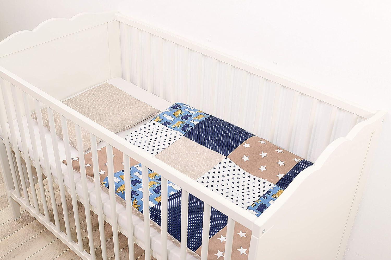 ULLENBOOM//® Baby Bedding Set/ Blue Stars 2-Piece Baby Bed Linen Set: 35/x 40/cm Pillowcase, 80/x 80/cm Quilt Cover