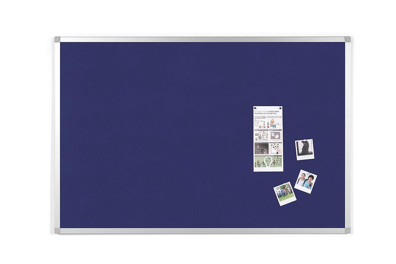 BoardsPlus Felt Notice Board Blue Felt Surface Aluminium Frame 1200 x 900 mm