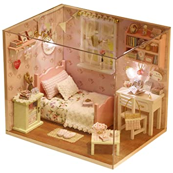 LEMOGO Bricolage en Bois Dollhouse Handcraft Miniature Kit ...