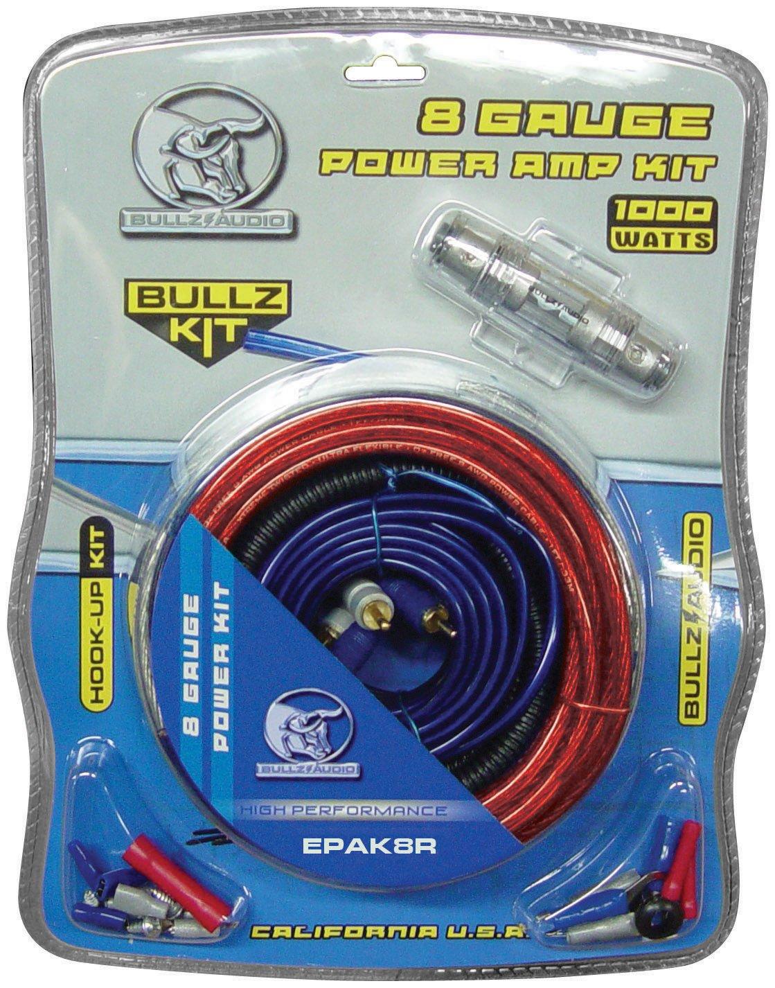 amazon com xscorpion epak8r 8 gauge amplifier amp wiring kit with rh amazon com