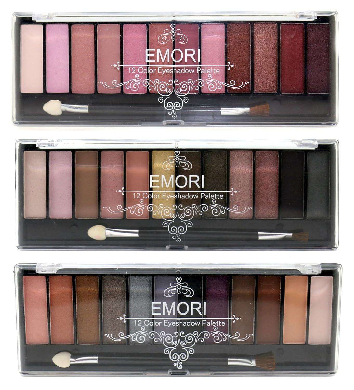 Glamorous 36 Natural, Smoky, Ultra Color Eyeshadow Pro Makeup kit Emori