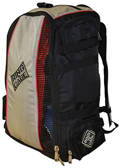 752adee0586 Amazon.com: Ring to Cage Gym Bag - Convertible Backpack Duffel Equipment Bag  for Muay Thai, MMA: Clothing