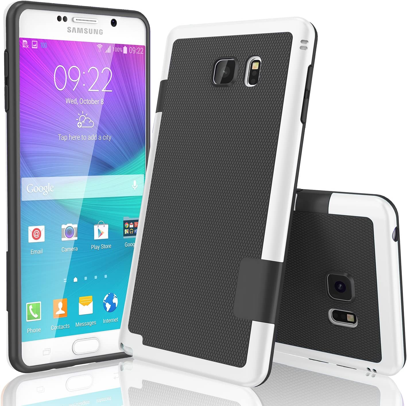 Galaxy Note 5 Case, TILL(TM) Ultra Slim 3 Color Hybrid Impact Anti-Slip Shockproof Soft TPU Hard PC Bumper Extra Front Raised Lip Case Cover for Samsung Galaxy Note 5 V SM-N920 [Black]