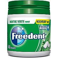FREEDENT Chewing-Gums Dragées Menthe Verte en Boîte 84 g - Lot de 4