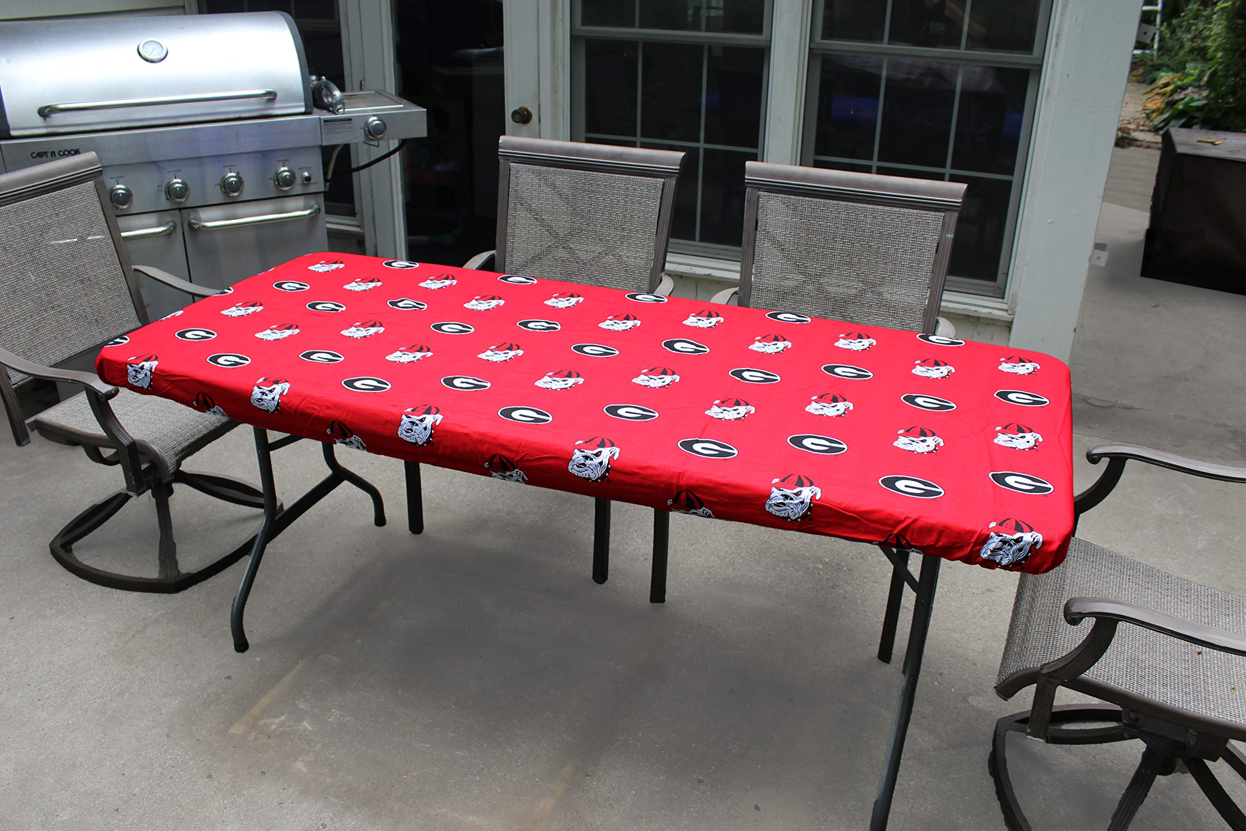 College Covers Georgia Bulldogs Table Cover, 8'/95 by 30''