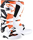 NEW ALPINESTARS TECH-7 ENDURO MOTOCROSS/OFF-ROAD ADULT MICROFIBER UPPER BOOTS, WHITE/ORANGE, US-11