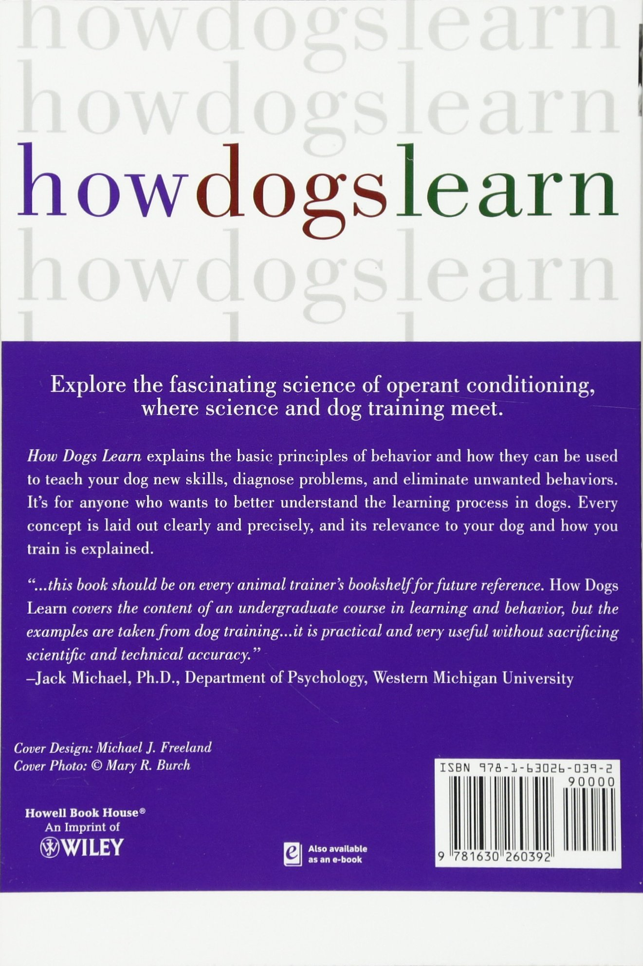 how dogs learn mary r burch jon s bailey