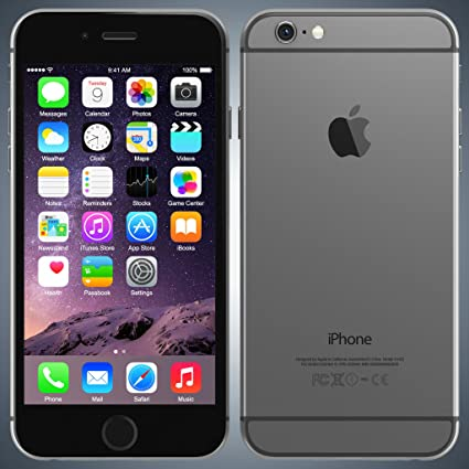 apple iphone 6 space grey. apple iphone 6 64gb space gray lte cellular unlocked ng4w2ll/a(certified refurbished) iphone grey e