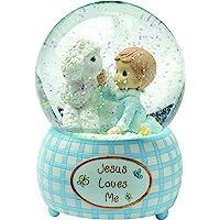 Precious Moments, Jesus Loves Me, Boy, Resin Snow Globe, 102404
