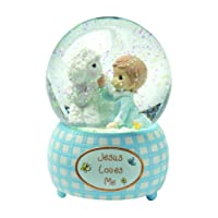 Precious Moments,  Jesus Loves Me, Boy, Resin Snow Globe, 102404