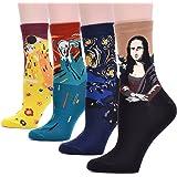 Happytree 可爱设计休闲棉质水手袜,猫袜,狗袜,动物袜,适*为礼物送人