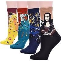 3-6 Pairs Womens Gift Socks Set - Animal Cat Dog Owl Pattern Funny Cute Design Gift Ideas Size 6-9
