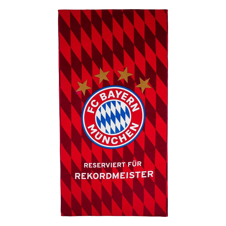 FC Bayern M/ünchen Strandtuch Rekordmeister Handtuch rot 77x150 cm