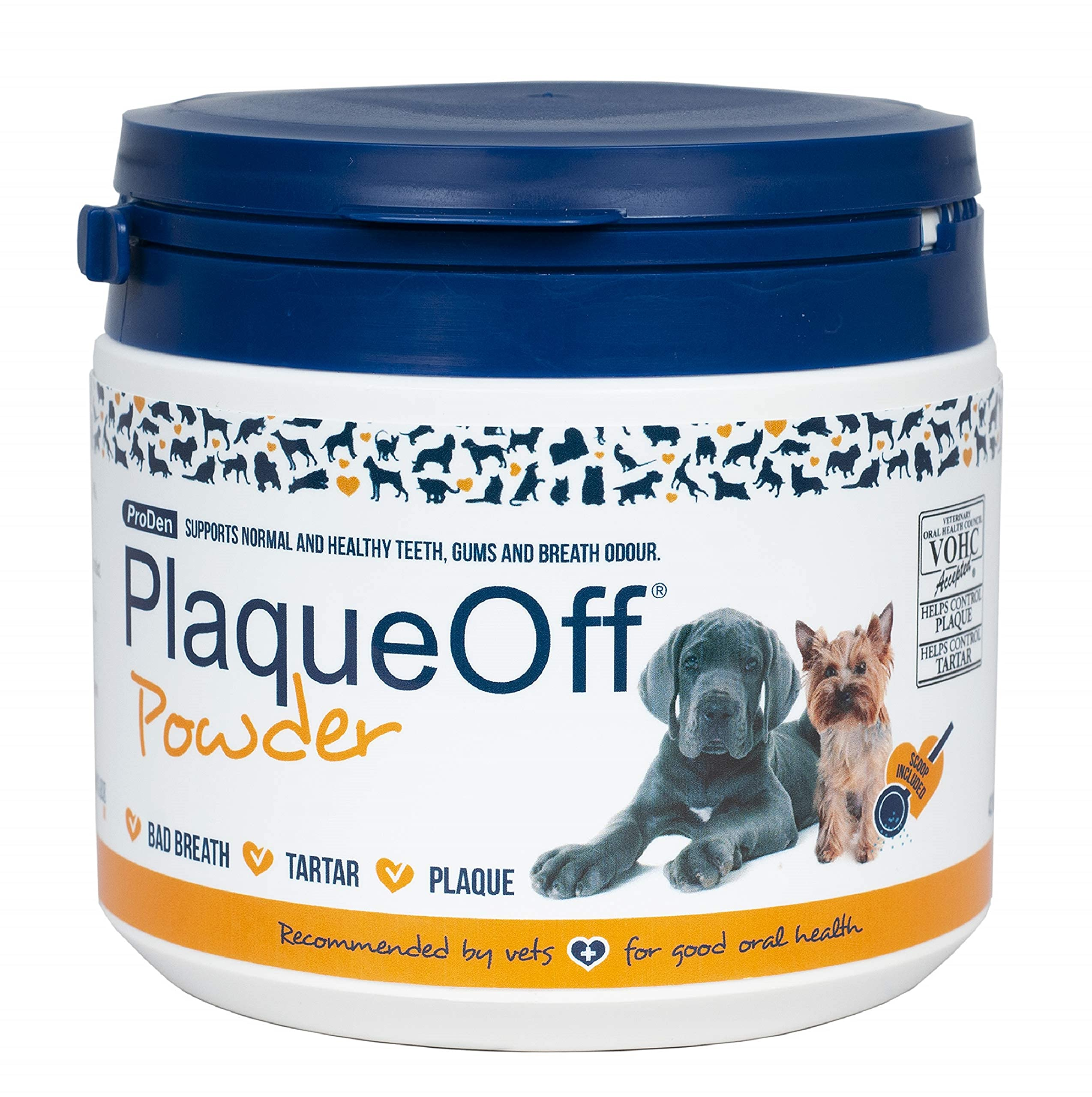 ProDen PlaqueOff Powder – Supports Normal, Healthy Teeth, Gums, and Breath Odor in Pets – 420 g