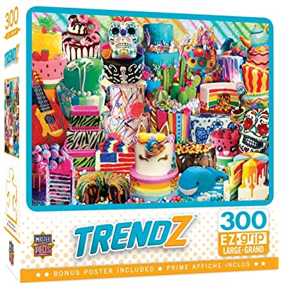 MasterPieces Trendz - Fancy Cakes 300-Piece EZ Grip Jigsaw Puzzle: Toys & Games