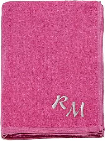 Grande 100% algodón bordado Monogram toalla de playa toallas de ...