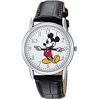 Disney - Reloj casual de cuarzo y metal para hombre, diseño de Mickey Mouse, color negro (modelo: WDS000403)