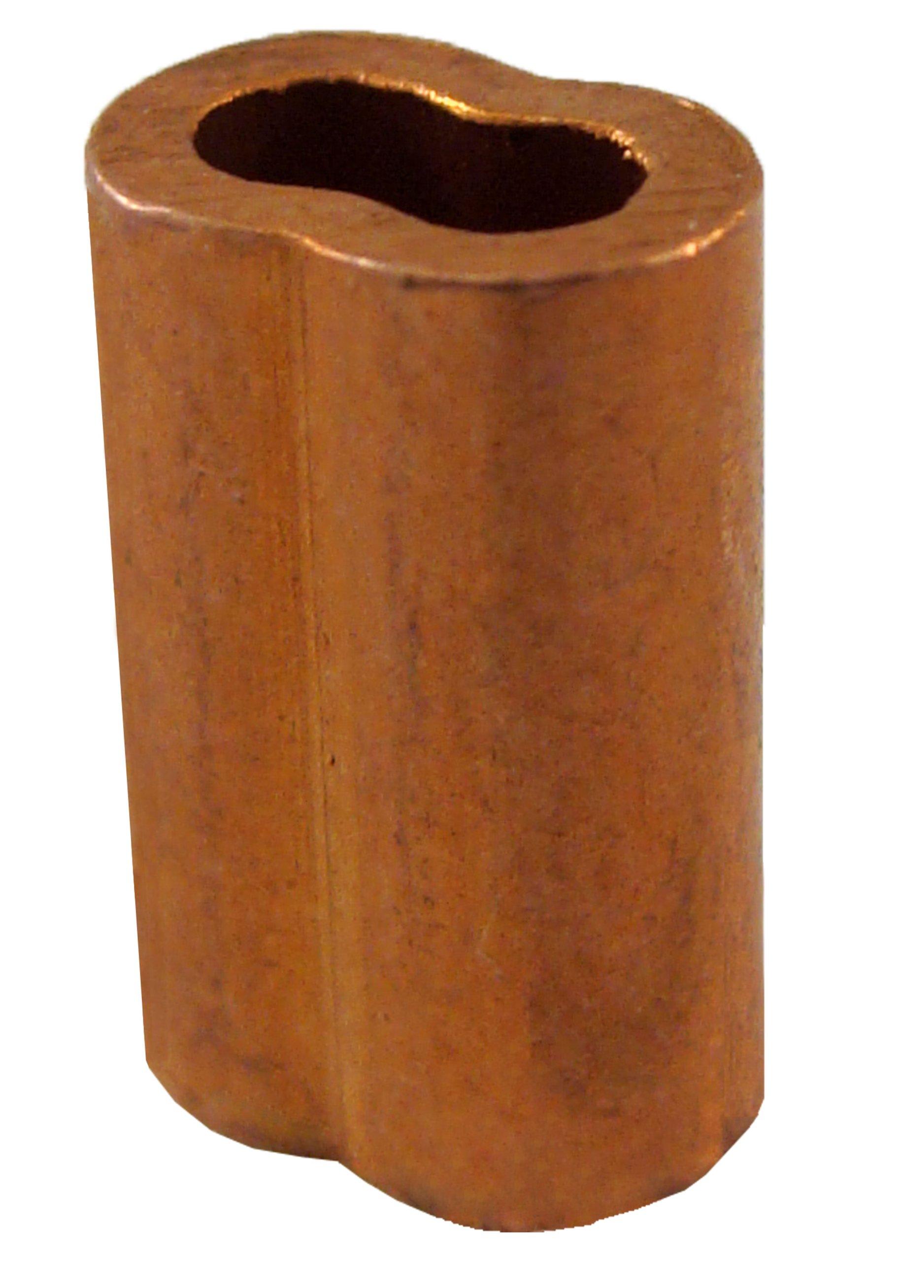 Loos Cableware SL2-3 Plain Copper Duplex Oval Crimping Sleeve Set for 3/32'' Diameter Wire Rope (50 Piece)