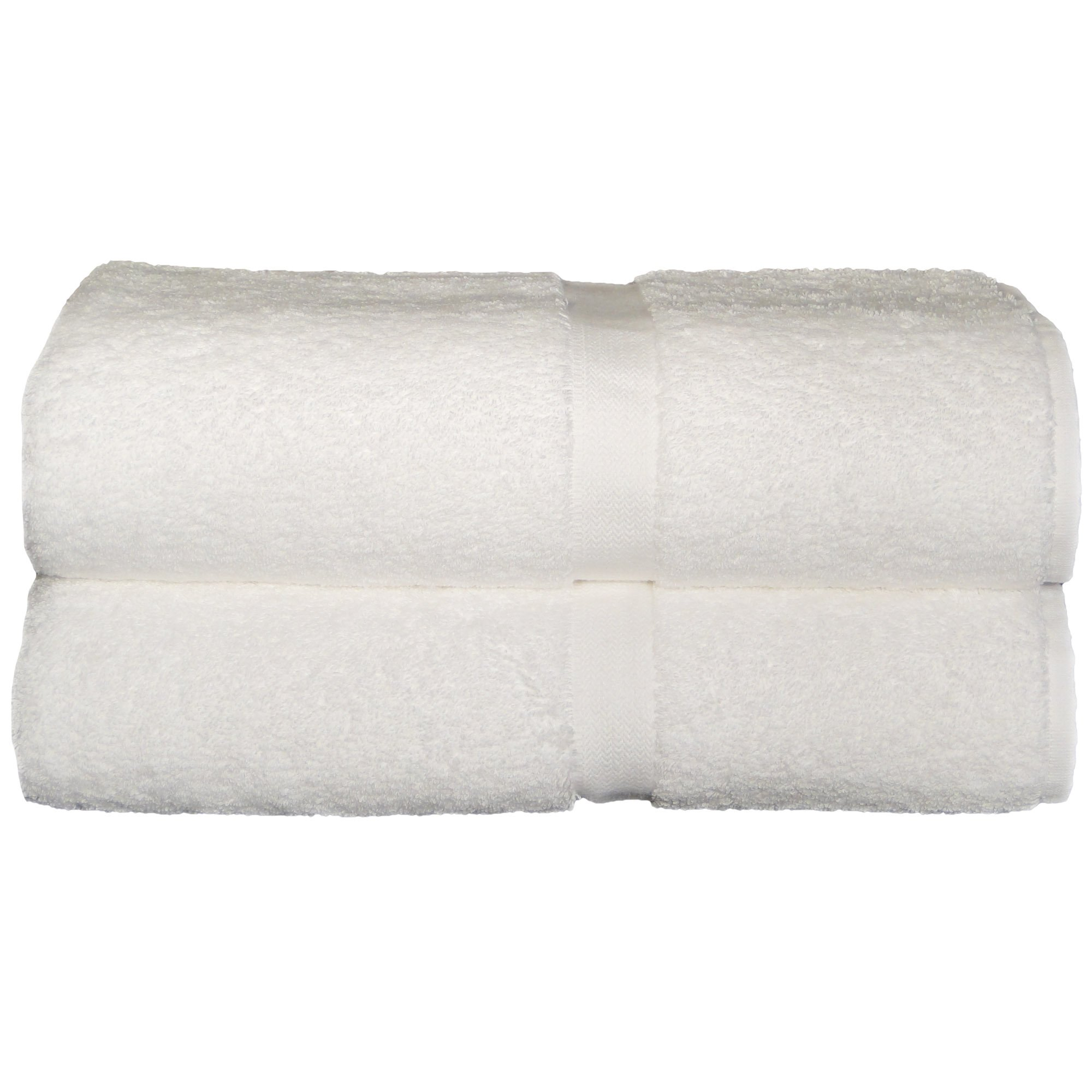 Chelsea Collection By Baltic Linen 100-Percent Turkish Cotton 2-Pack Jumbo Bath Sheet, 39 By 67-Inch, White