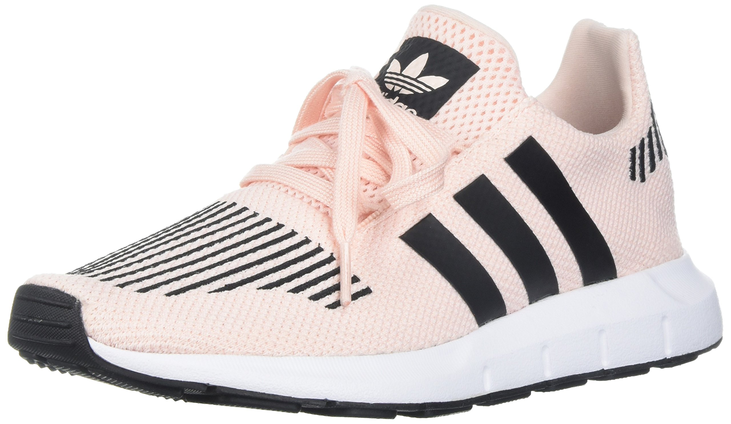 adidas Originals Girls' Swift Run J Sneaker, Ice Pink/Black/White, 7 M US Big Kid