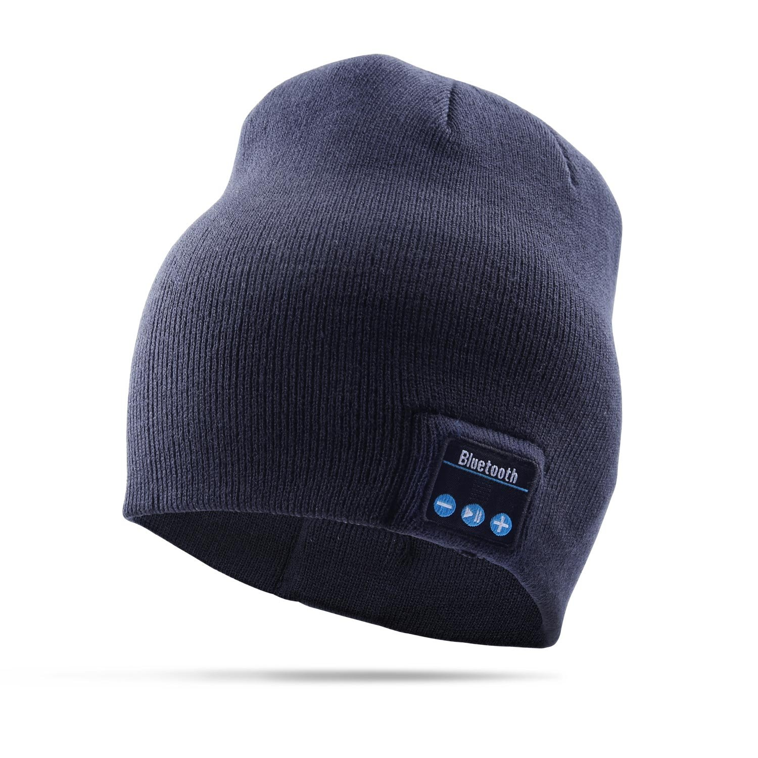 Bluetooth Hat Wireless Smart Headset Musical Knit Cap for Fitness Outdoor Sports Skiing Running Skating Walking (Blue) Warlxun